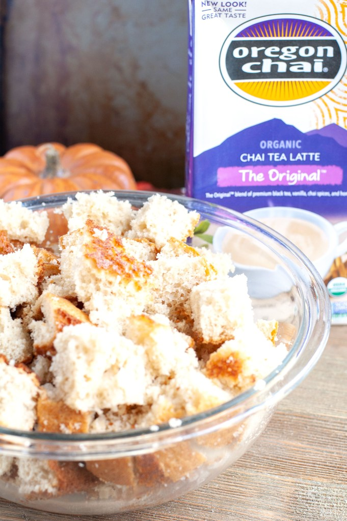 Cake cubes for pumpkin trifle