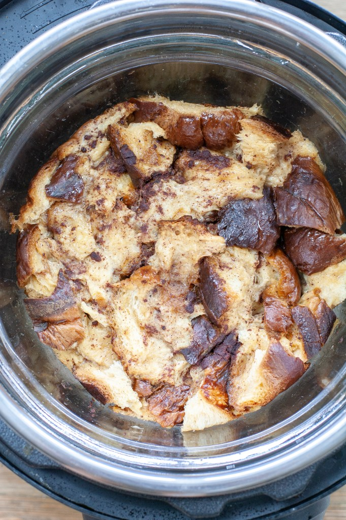 Instant Pot French Toast Casserole cooked in Instant Pot
