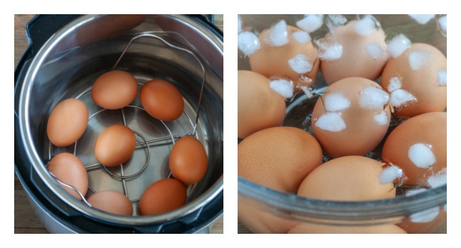 Steps for hard boiling eggs