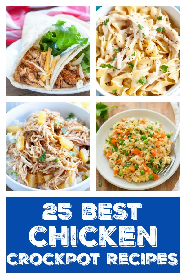 Pinterest image of best chicken crockpot recipes