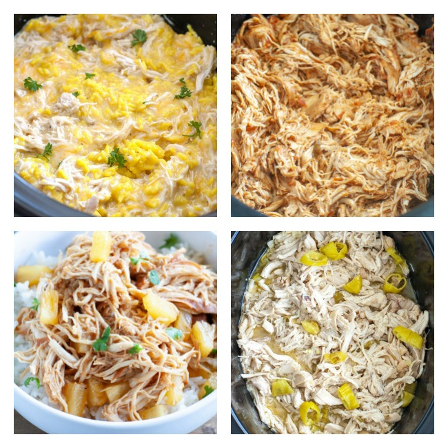 4 pictures of slow cooker chicken recipes