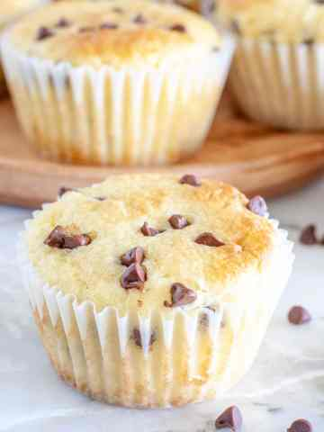 muffins with mini chocolate chips