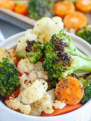 Mixed vegetables in a bowl.