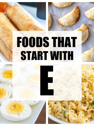 "Words ""Foods That Start With E""."