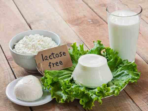 lactose free intolerance – food with background