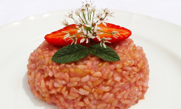 Risotto integrale alle fragole