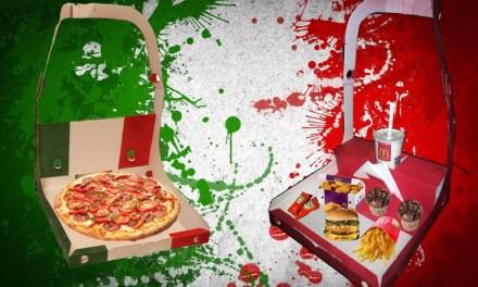 Il cartone per pizza con le bretelle