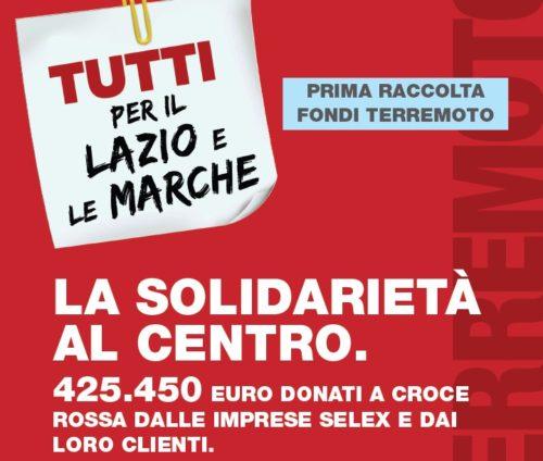 """""""TUTTI PER IL CENTRO ITALIA"""" AVVIATA LA SECONDA RACCOLTA"""