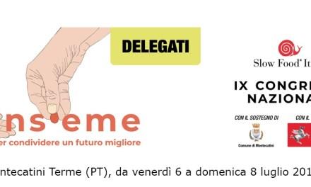 Tutto il programma del IX Congresso nazionale di Slow Food Italia a Montecatini Terme
