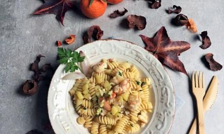 Pasta con gamberoni, mandarancio e zenzero by Mirella Codeghini