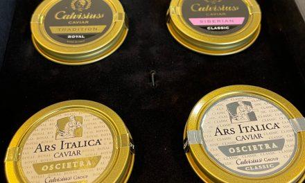 La degustazione del caviale Calvisius