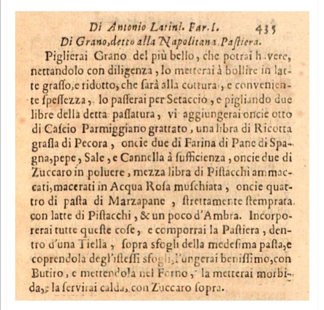 pastiera del 1693_la ricetta di Antonio Latini