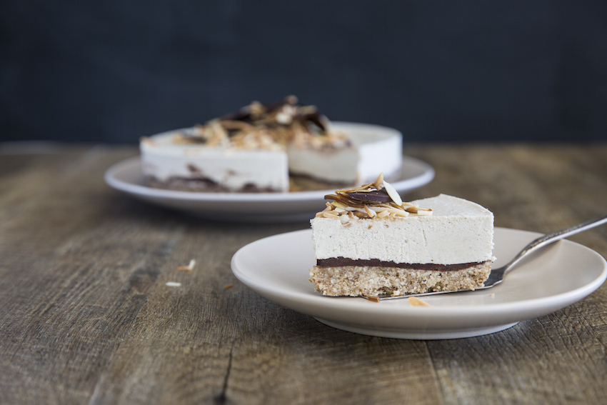 Raw Vegan Almond Joy Cheesecake