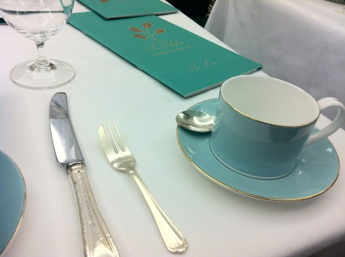 Fortnum and Mason Afternoon Tea Table Setting of Cup and Saucer