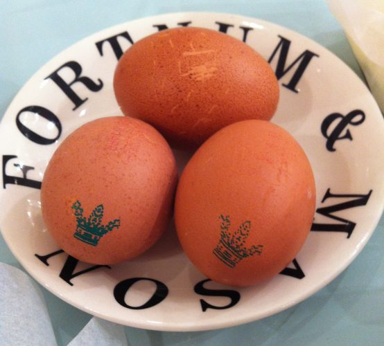 Fortnum and Mason Eggs With Royal Stamp