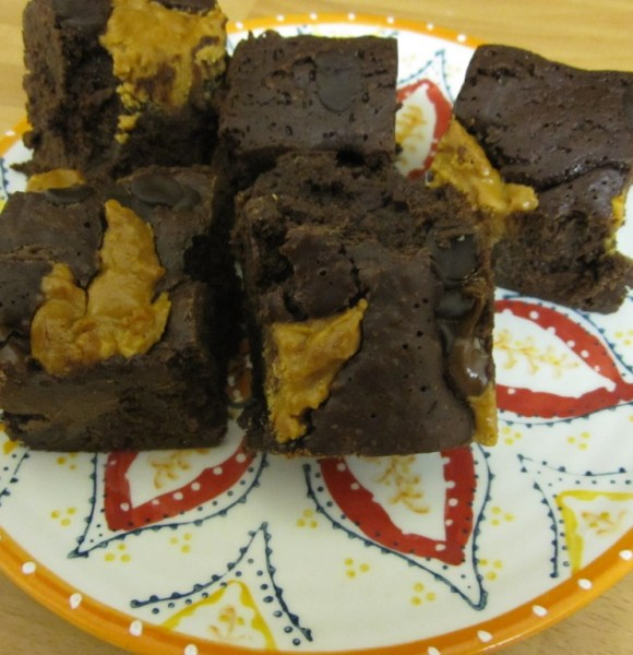 Nutella and Peanut Butter Brownies