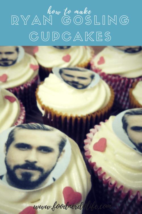 Ryan Gosling Cupcake Pin