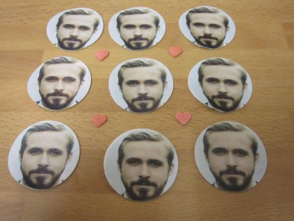 Ryan Gosling Cupcake Toppers