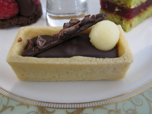 Earl Grey Tea Chocolate Tart with Salted Lemon Truffle