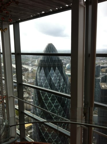 Gherkin View from Duck and Waffle, London