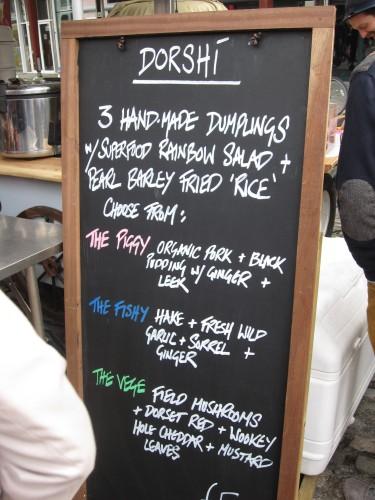 Dorshi Dumplings Menu, Bristol