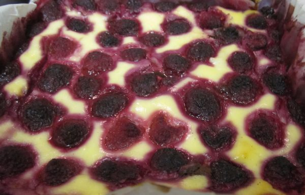 Baked Raspberry Cheesecake Topping