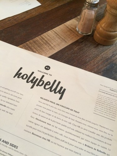 Holybelly Cafe Menu in Paris