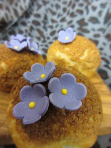 Choux Bun with Craquelin Topping and Toblerone Creme Patisserie