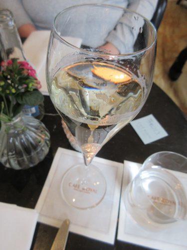 Champagne at Dessert Bar at Cafe Royal, London