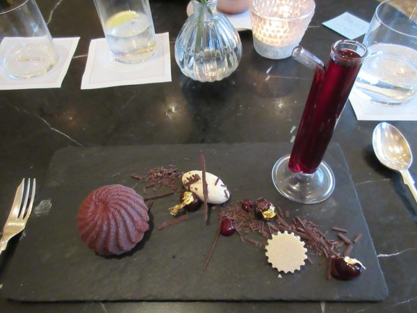 Mad Hatters Black Forrest Gateaux at Dessert Bar at Cafe Royal, London