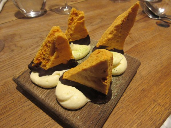 Chocolate Honeycomb Crunchy, Mascarpone, Rabbit, London