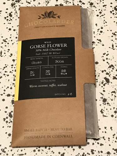Chocolader Gorse Flower Chocolate Bar