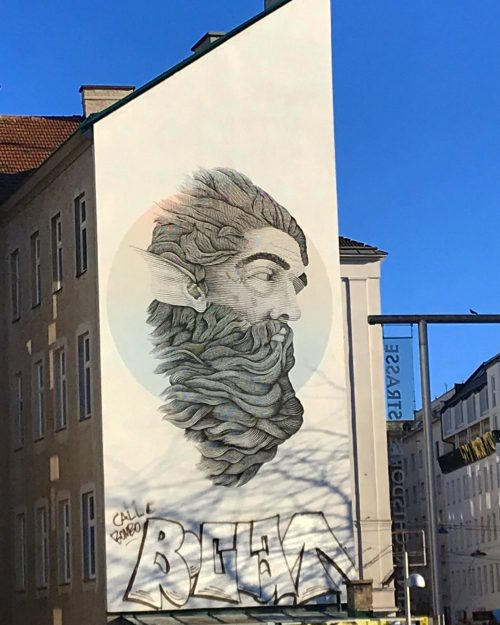 Graffiti Beard in Vienna