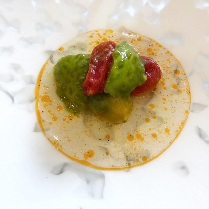 Tomato and Vanilla at Story Restaurant.