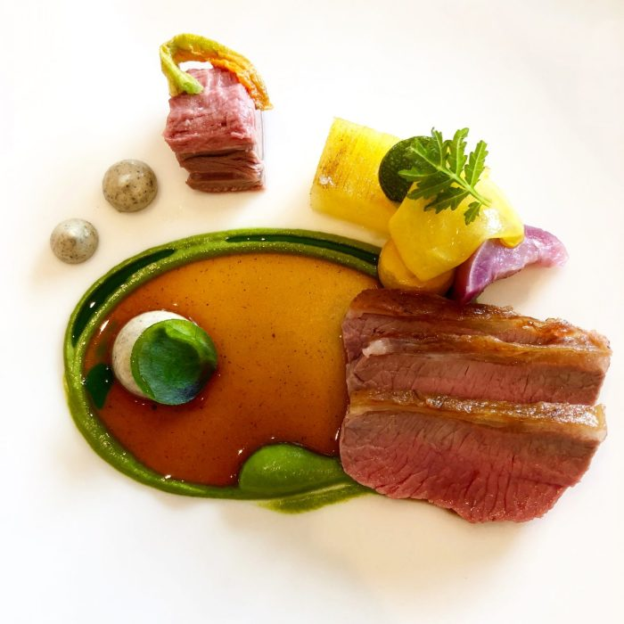 Saddle of Lamb, Courgette and Potato at Story Restaurant