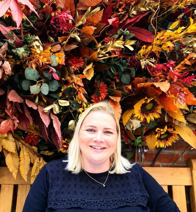 FoodNerd at Dominique Ansel's Afternoon Tea, London, Autumn Foliage Background
