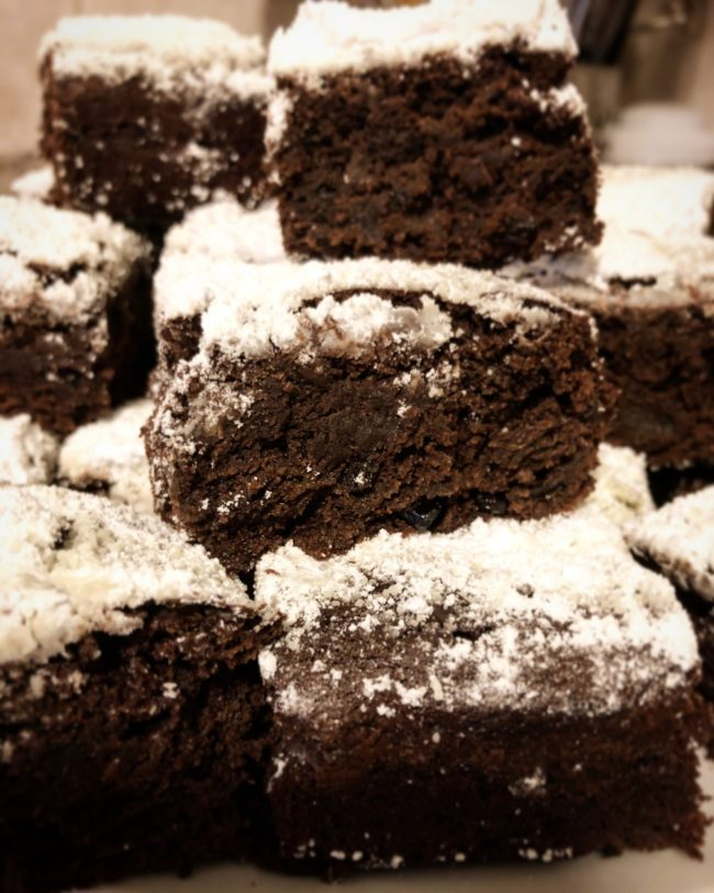 Pile of Stollen Brownies