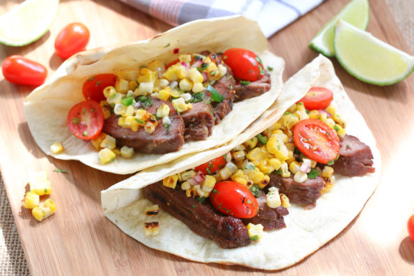 Steak Tacos with Grilled Corn Salsa