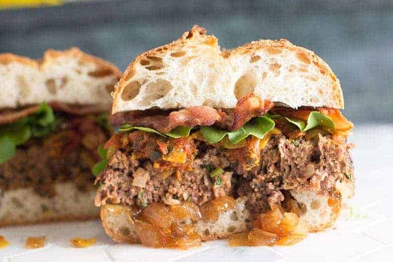 Meat Loaf Sandwich with Onion Jam