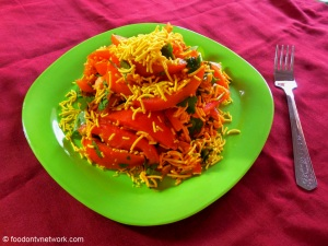 Quick and Easy Fast Food Recipe. Sev Tomato Snack.