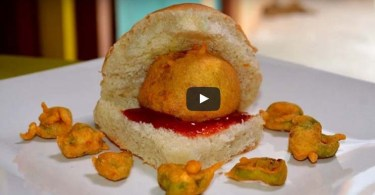 Vada Pav Video Recipe. How to Cook Vada Pav Recipe, Indian Fast Food Recipe, Popular Indian Street Food Recipe, Indian Vegetarian Vada Pav Recipe.