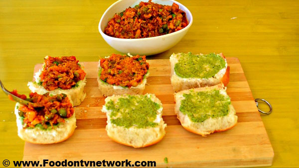 Home Made Pav Bhaji Toast Recipe.