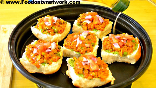 How to Make Pav Bhaji Toast Recipe.