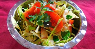How to Make Onion and Cabbage Salad Recipe, Indian Vegetarian Salad Recipe, Quick Salad Recipe.