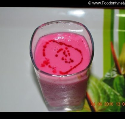 Rose Apple Strawberry Smoothie Recipe, Apple Strawberry Smoothie Recipe, Strawberry Apple Smoothie Recipe, Quick Smoothie Recipe, Fruit Smoothie Recipe, Healthy Indian Smoothie Recipe, Indian Dessert Recipe, No Fire Recipe.