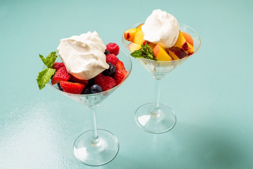 Date & bourbon Chantilly Cream dessert as prepared by David Jackson on Food Over 50