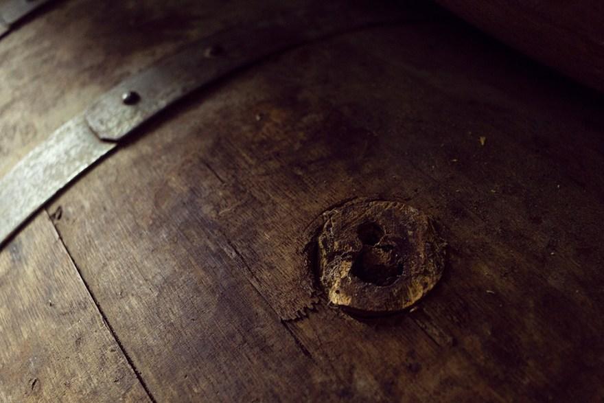 whisky barrel cork at Red River Distillery in Scotland