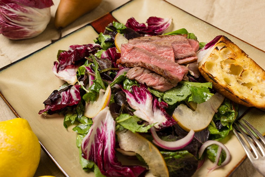 Food Over 50, bittersweet steak salad recipe