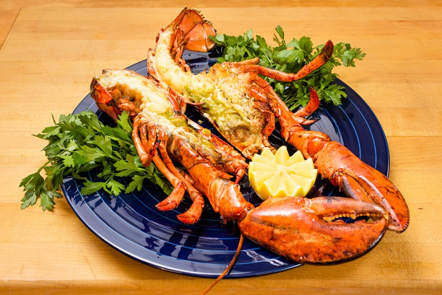 Grilled Lobster with Olive Oil & Lemon