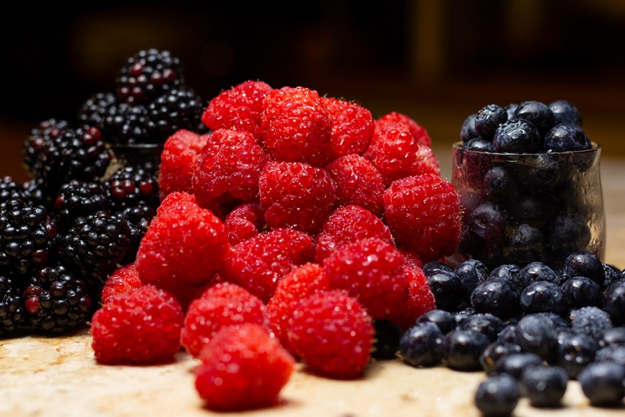 Berries are a good source of fiber